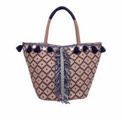 Multicolor Jute Dari Embellished Bag