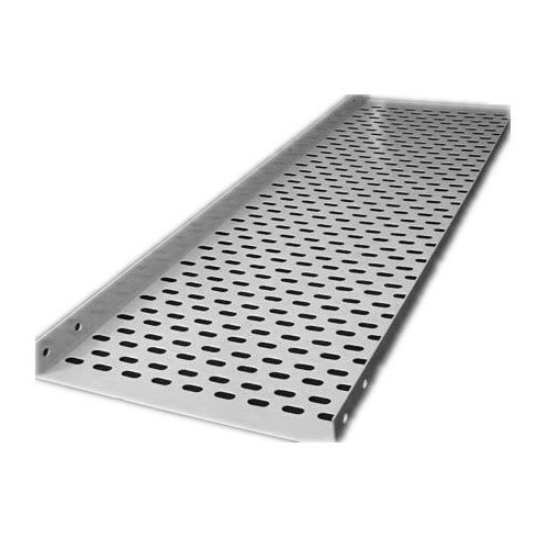 perforated cable tray  Steel Perforated Cable Tray, Rs 600 /meter, Diya Fibertech