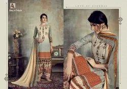 Unstitched Unstitch Rang-E-Patiyala Suits (Pure Cotton Discharge Digital Print), Handwash