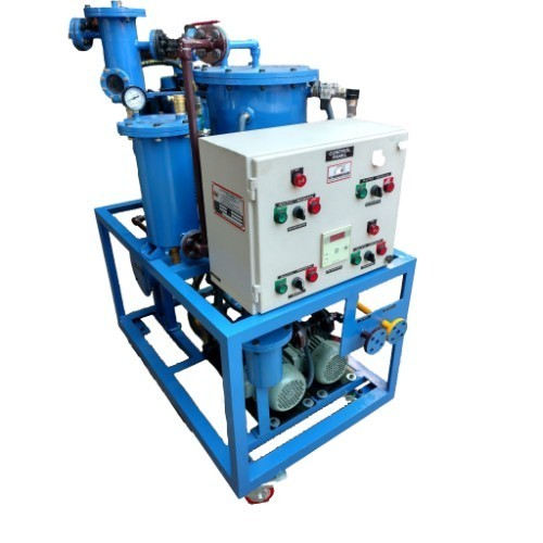 Filtration Machine for Hydraulic Oil Solid & Moisture Removal