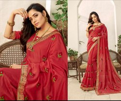 Fancy Navy Maroon Party Wear Sarees