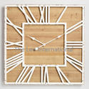 Wood And Metal Large Wall Clock