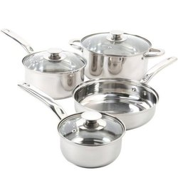SS Non Stick Cooking Pot And Pan Set