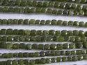 Vessonite, Vesuvianite, Idocrase Faceted 3D Cube Beads Cut Box Shape Briolette Beads Strands