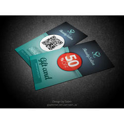 Multicolor Rectangular Gift Voucher Card, Size: Standard