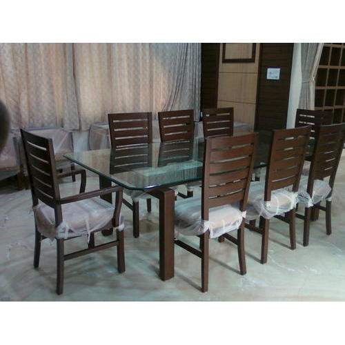 8 Seater Rectangle Teakwood Dining Table Set Dimensions 8 X 4 Inch Rs 64500 Set Id 19196990133