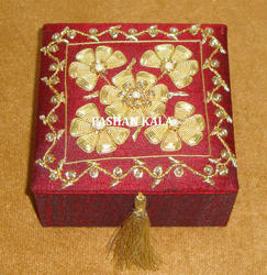 Hand Embroidered Jewelry Box