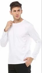 White Plain Cotton T Shirt