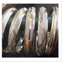 92% Party Wear Silver Designer Bangles
