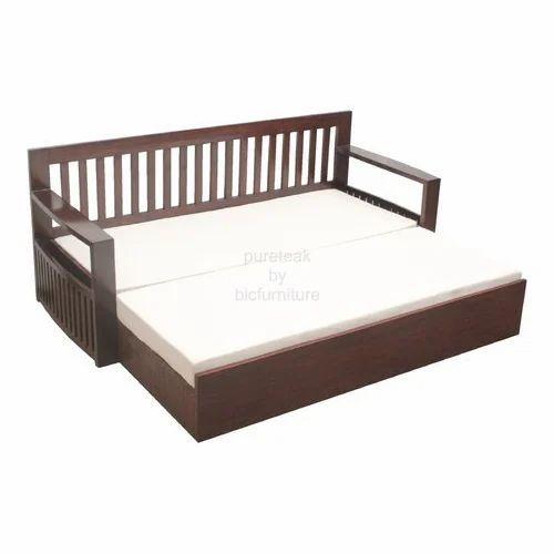 Wooden Sofa Cum Bed लकड क स फ ब ड व डन
