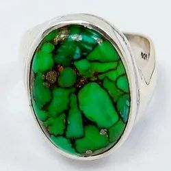 Green Copper Turquoise Rings