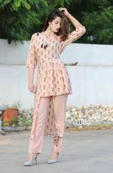 Ladies Designer Cotton Pant Suit