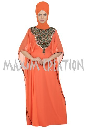 cd0354912a1 Maxim Creation Tomato Evening Wear Home Gown For Ladies