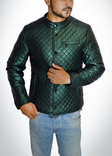 18e2f4b9 Leather Green Zara Design Men Winter Jacket, Rs 1500 /piece | ID ...