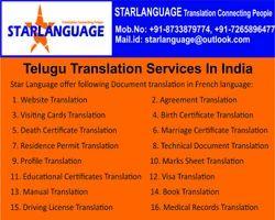 Telugu Translator Services, भाषा अनुवाद की