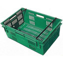 Rectangular Perforated Plastic Crate