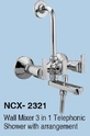 Ncashyap Wall Mounted Wall Mixer 3 In 1, Size: 15mm, For Bathroom