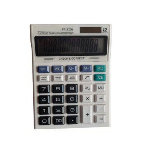 table size white colour electronic calculator