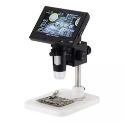 Digital Electronic Microscope DM4 4.3LCD Display VGA Microscope with 8 LED Stand