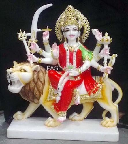 1f114a86a27 Marble Ambe Maa Statue