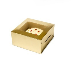 28GD One Kg Golden Cake Box with Scallop Window