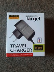 Black Travel Mobile Charger