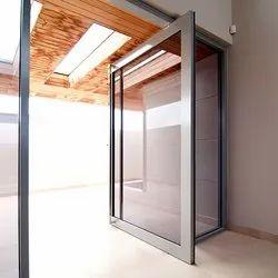 Exterior Aluminium Glass Door, Frame Thickness: 1-2 inch