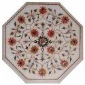 Italian Pietra Dura Marble Inlaid Table Top