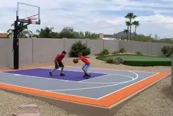 Outdoor Basketball Court Construction