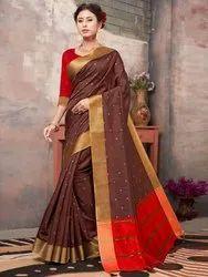 Banglori Silk Weaving  Saree With Blouse Piece,6.3mtr