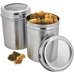 Stainless Steel See Through Canister Jar Set