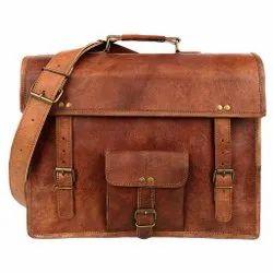 Leather Messenger Bag for Mens