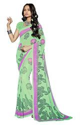 Chiffon Printed Saree with Blouse Piece