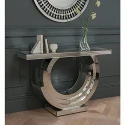 Curved Designed Mirror Console Table