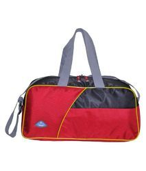 Red   Black Polyester Avon Sport Small Fabric Gym Bag