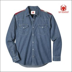 Mens Industrial Denim Shirts