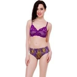 Purple Bra Panty Set