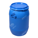Blue Mitsu Chem 65 Ltr Hdpe Square Shape Full Open Top Drums