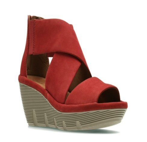b474c0eb804 Clarks Daily Wear And Casual Red Sandal