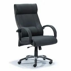 Black Leatherette Official Chair, Revolving Chair: Yes