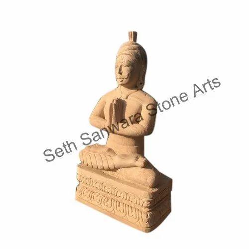 Exterior Sandstone Sculpture, Size/Dimension: 1.5x3 Feet
