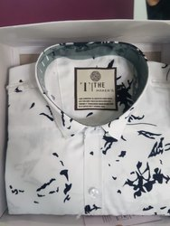 Party Wear Cotton/Linen Men Designer Shirt, Packaging Type: Box