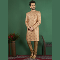 Jacquard Silk Wedding Wear Designer Sherwani