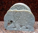 Soapstone Tea Coaster Set Animal Design Carved