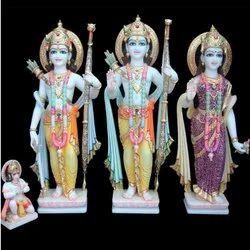 Colored Marble Ram Darbar Statue