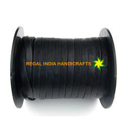 Black Flat Leather Cord