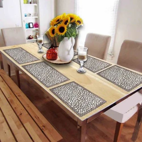Golden Silver Pvc Dining Table Mat