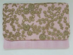 Embroidered Polyester Net Clutches