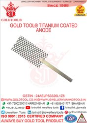 Gold Tool Jewellery Titanium Plating Anodes