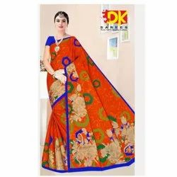 Festival Wear Cotton Saree, 5.5m (Separate Blouse Piece)